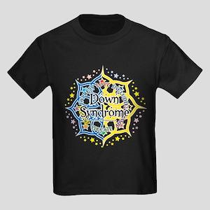 Down Syndrome Lotus Kids Dark T-Shirt