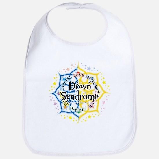 Down Syndrome Lotus Bib