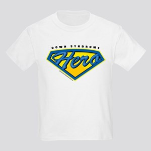 Down Syndrome Super Hero Kids Light T-Shirt