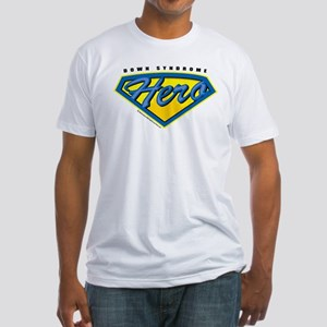 Down Syndrome Super Hero Fitted T-Shirt