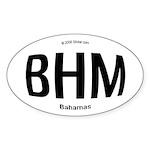 Bahamas Rounded Oval Sticker