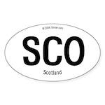 Scotland Borderless Oval Sticker
