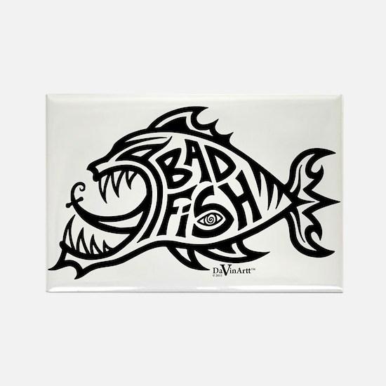Cute Piranha Rectangle Magnet