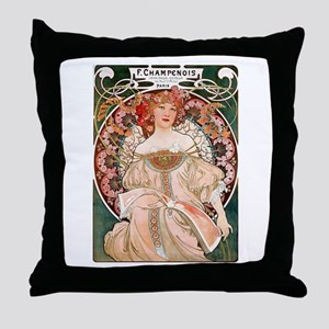 F. Champenois Imprimeur by Mucha Throw Pillow