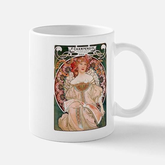 F. Champenois Imprimeur by Mucha Mug