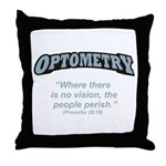 Optometry / Perish Throw Pillow