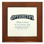 Optometry / Perish Framed Tile
