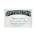 Optometry / Perish Rectangle Magnet (10 pack)