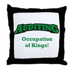 Auditing / Kings Throw Pillow