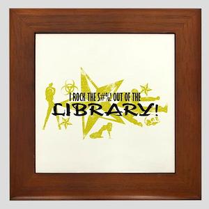I ROCK THE S#%! - LIBRARY Framed Tile