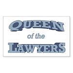 Queen Lawyer Sticker (Rectangle)