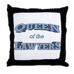 Queen Lawyer Throw Pillow