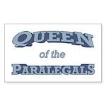 Queen Paralegal Sticker (Rectangle)
