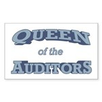 Queen Auditor Sticker (Rectangle)