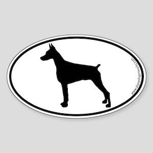 Doberman Pinscher SILHOUETTE Oval Sticker