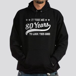 Funny 80th Birthday Hoodie (dark)