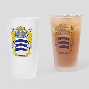 Santino Family Crest - Coat of Arms Drinking Glass