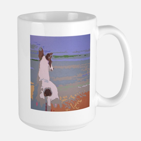Looking Out to Sea Large Mug