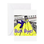 blk-plane-slide (1004 x 834) Greeting Cards