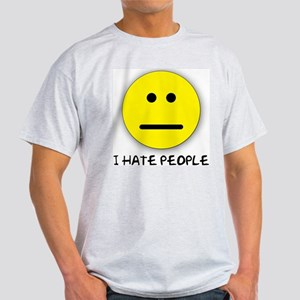 I Hate People Ash Grey T-Shirt