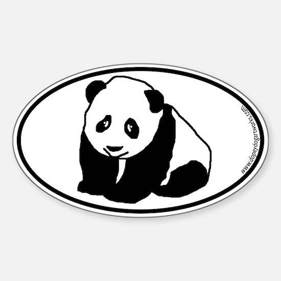 Panda SILHOUETTE Oval Decal