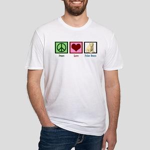 Peace Love Polar Bears Fitted T-Shirt