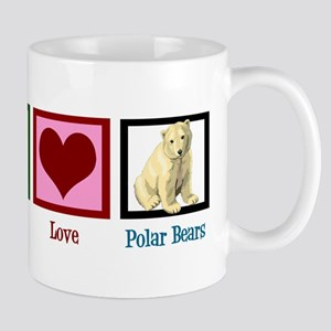 Peace Love Polar Bears Mug