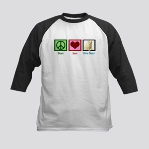 Peace Love Polar Bears Kids Baseball Jersey