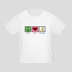 Peace Love Polar Bears Toddler T-Shirt