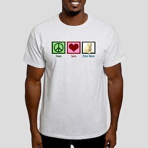 Peace Love Polar Bears Light T-Shirt