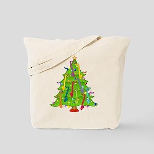 Bass Clarinet Christmas Tree Tote Bag
