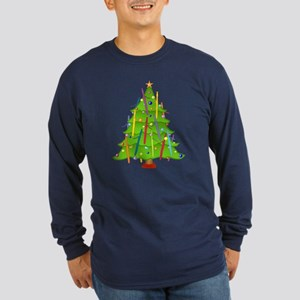 Bassoon Christmas Long Sleeve Dark T-Shirt