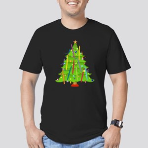 Bassoon Christmas Men's Fitted T-Shirt (dark)