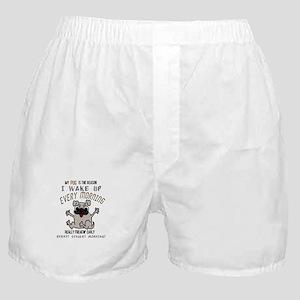 Morning Pug Hugs Boxer Shorts
