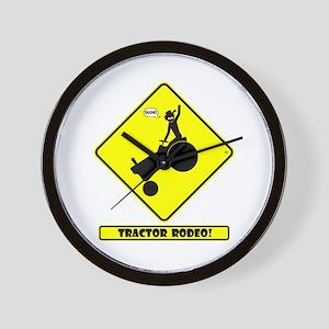 RODEO DANGER Mugs Wall Clock