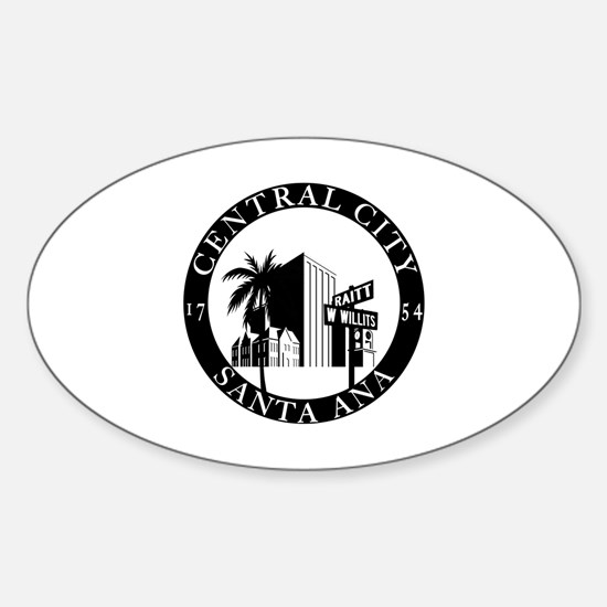 Unique Hip hop santa Sticker (Oval)