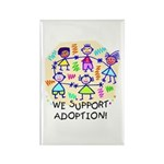We Support Adoption Rectangle Magnet 10pk