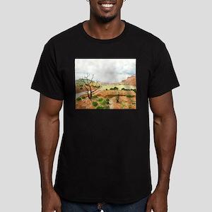 Capitol Reef Scenic Drive Men's Fitted T-Shirt (da