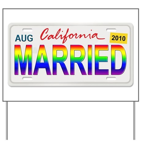 MARRIED Yard Sign