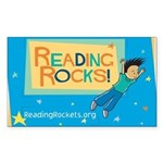 Reading Rocks! Rectangle Sticker