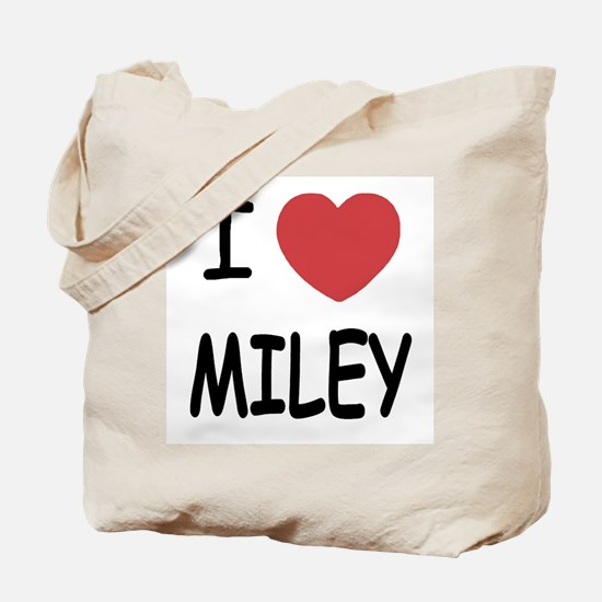 I heart miley Tote Bag