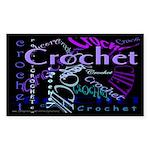 Crochet Purple Sticker (Rectangle 10 pk)