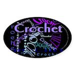 Crochet Purple Sticker (Oval 50 pk)