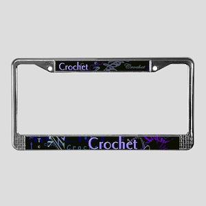 Crochet Purple License Plate Frame
