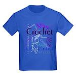 Crochet Purple Kids Dark T-Shirt