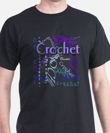Crochet Purple T-Shirt