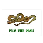 Plays With Snakes Postcards (Package of 8)