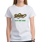 Plays With Snakes Women's T-Shirt