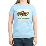 Plays With Snakes Women's Pink T-Shirt