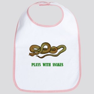 Plays With Snakes Bib